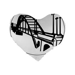 Seal Of Ahvaz Standard 16  Premium Flano Heart Shape Cushions by abbeyz71
