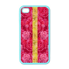 Rose And Roses And Another Rose Apple Iphone 4 Case (color) by pepitasart