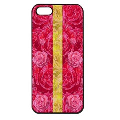 Rose And Roses And Another Rose Apple Iphone 5 Seamless Case (black) by pepitasart