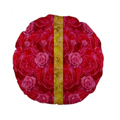 Rose And Roses And Another Rose Standard 15  Premium Round Cushions by pepitasart