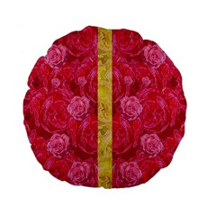 Rose And Roses And Another Rose Standard 15  Premium Flano Round Cushions by pepitasart