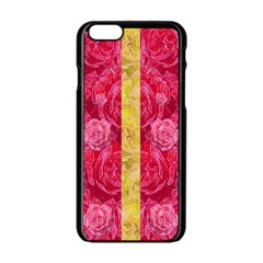 Rose And Roses And Another Rose Apple Iphone 6/6s Black Enamel Case by pepitasart