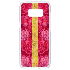 Rose And Roses And Another Rose Samsung Galaxy S8 White Seamless Case by pepitasart