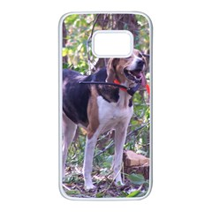 American Foxhound Full Hunting Samsung Galaxy S7 White Seamless Case by TailWags