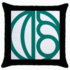 Seal Of Isfahan  Throw Pillow Case (black) by abbeyz71