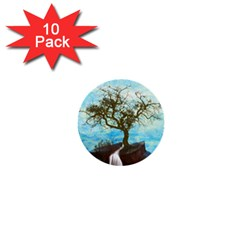 Single Tree 1  Mini Buttons (10 Pack)  by berwies