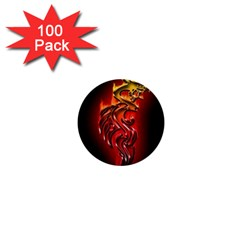 Dragon Fire 1  Mini Buttons (100 Pack)  by BangZart