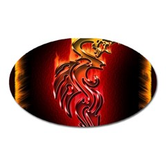 Dragon Fire Oval Magnet