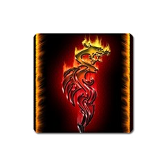 Dragon Fire Square Magnet