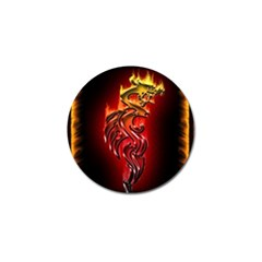 Dragon Fire Golf Ball Marker (4 Pack)