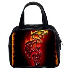 Dragon Fire Classic Handbags (2 Sides) by BangZart