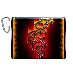 Dragon Fire Canvas Cosmetic Bag (xl) by BangZart