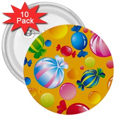Sweets And Sugar Candies Vector  3  Buttons (10 Pack)