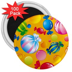 Sweets And Sugar Candies Vector  3  Magnets (100 Pack)