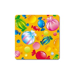 Sweets And Sugar Candies Vector  Square Magnet by BangZart