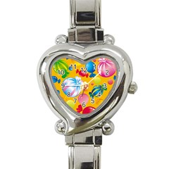Sweets And Sugar Candies Vector  Heart Italian Charm Watch