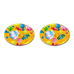 Sweets And Sugar Candies Vector  Cufflinks (oval)