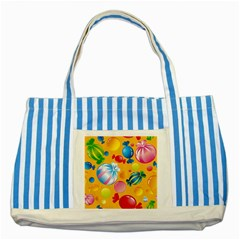 Sweets And Sugar Candies Vector  Striped Blue Tote Bag