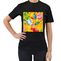 Sweets And Sugar Candies Vector  Women s T Shirt (black)