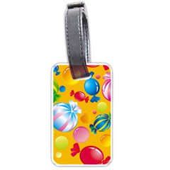 Sweets And Sugar Candies Vector  Luggage Tags (one Side)