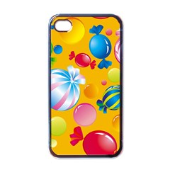Sweets And Sugar Candies Vector  Apple Iphone 4 Case (black)