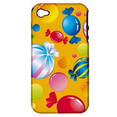 Sweets And Sugar Candies Vector  Apple Iphone 4/4s Hardshell Case (pc+silicone)