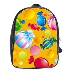 Sweets And Sugar Candies Vector  School Bags (xl)  by BangZart