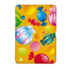 Sweets And Sugar Candies Vector  Samsung Galaxy Tab 2 (10 1 ) P5100 Hardshell Case