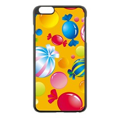 Sweets And Sugar Candies Vector  Apple Iphone 6 Plus/6s Plus Black Enamel Case