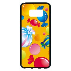 Sweets And Sugar Candies Vector  Samsung Galaxy S8 Plus Black Seamless Case