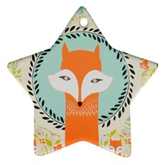 Foxy Fox Canvas Art Print Traditional Ornament (star)