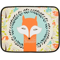 Foxy Fox Canvas Art Print Traditional Fleece Blanket (mini)