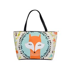 Foxy Fox Canvas Art Print Traditional Shoulder Handbags