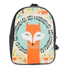 Foxy Fox Canvas Art Print Traditional School Bags(large)