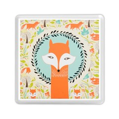 Foxy Fox Canvas Art Print Traditional Memory Card Reader (square)