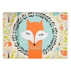 Foxy Fox Canvas Art Print Traditional Samsung Galaxy Tab 10 1  P7500 Flip Case
