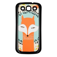 Foxy Fox Canvas Art Print Traditional Samsung Galaxy S3 Back Case (black)