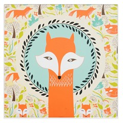 Foxy Fox Canvas Art Print Traditional Large Satin Scarf (square) by BangZart