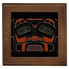 Traditional Northwest Coast Native Art Framed Tiles