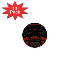 Traditional Northwest Coast Native Art 1  Mini Buttons (10 Pack)