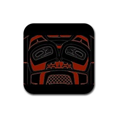 Traditional Northwest Coast Native Art Rubber Square Coaster (4 Pack)