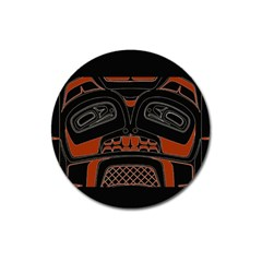 Traditional Northwest Coast Native Art Magnet 3  (round)