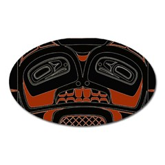 Traditional Northwest Coast Native Art Oval Magnet