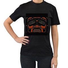 Traditional Northwest Coast Native Art Women s T Shirt (black) (two Sided)