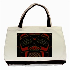 Traditional Northwest Coast Native Art Basic Tote Bag