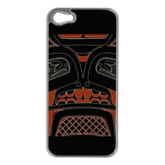 Traditional Northwest Coast Native Art Apple Iphone 5 Case (silver)