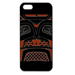 Traditional Northwest Coast Native Art Apple Iphone 5 Seamless Case (black)