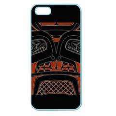 Traditional Northwest Coast Native Art Apple Seamless Iphone 5 Case (color)