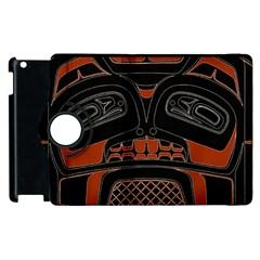 Traditional Northwest Coast Native Art Apple Ipad 3/4 Flip 360 Case