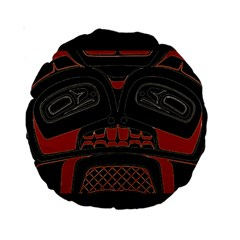 Traditional Northwest Coast Native Art Standard 15  Premium Round Cushions